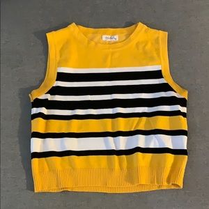 Tops - Black and Yellow Crop Top Small